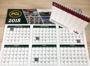 calender for pcl - edmonton calender printing