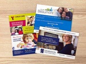 edmonton postcard printing - 4 example postcards